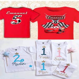 camisetas personalizadas niñas y niños