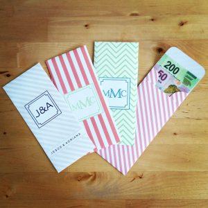 sobres para regalos
