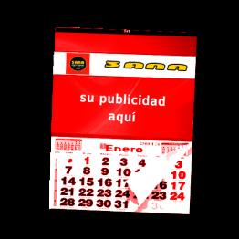 calendario publicitario rojo
