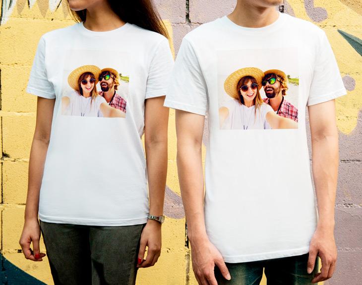 camiseta con foto para parejas